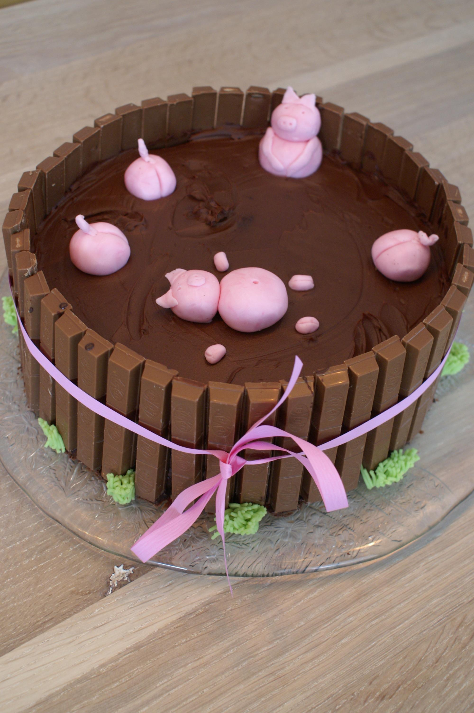 Schweinchen Matschparty Torte Sugarheaven